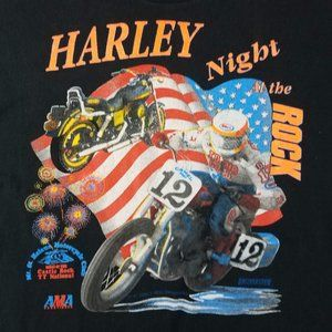 VTG 90s Budweiser Harley Night Single Stitch Tee